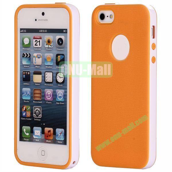 Two-tone Detachable Anti-skidding TPU Case for iPhone 5 5S (Orange)