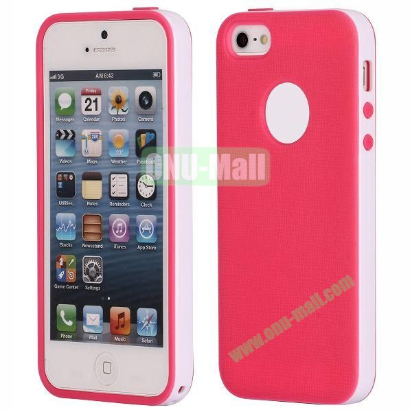 Two-tone Detachable Anti-skidding TPU Case for iPhone 5 5S (Red)