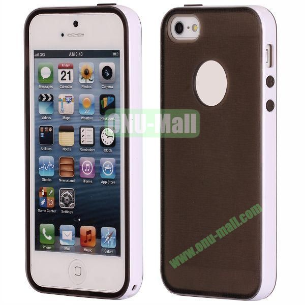 Two-tone Detachable Anti-skidding TPU Case for iPhone 5 5S (Brown)