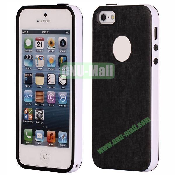 Two-tone Detachable Anti-skidding TPU Case for iPhone 5 5S (Black)