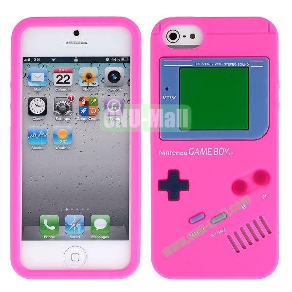 Nintendo Games Design Silicone Case for iPhone 5 5S (Rose)