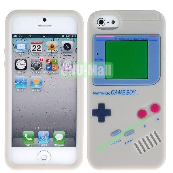 Nintendo Games Design Silicone Case for iPhone 5 5S (Grey)