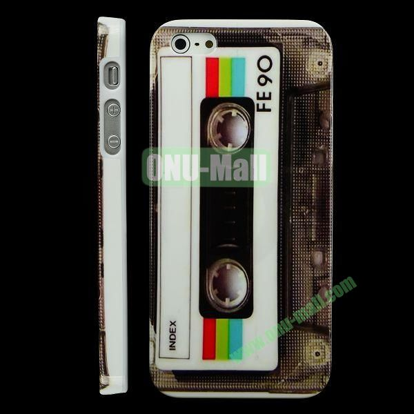 Special Design Hard PC Case For iPhone 5 5S (Cassette Tape Shape)