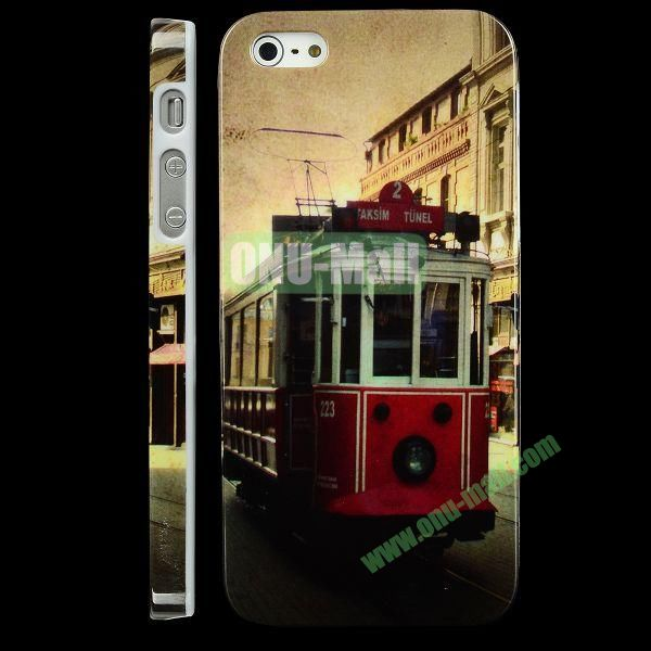 Special Design Hard PC Case For iPhone 5 5S (Retro Tram)