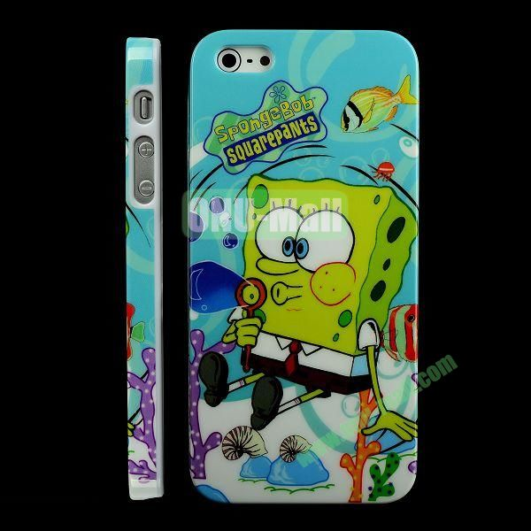 Special Design Hard PC Case For iPhone 5 5S (Sponge Bob)