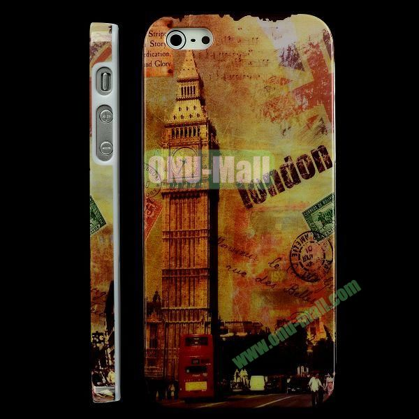 Special Design Hard PC Case For iPhone 5 5S (Retro Big Ben)