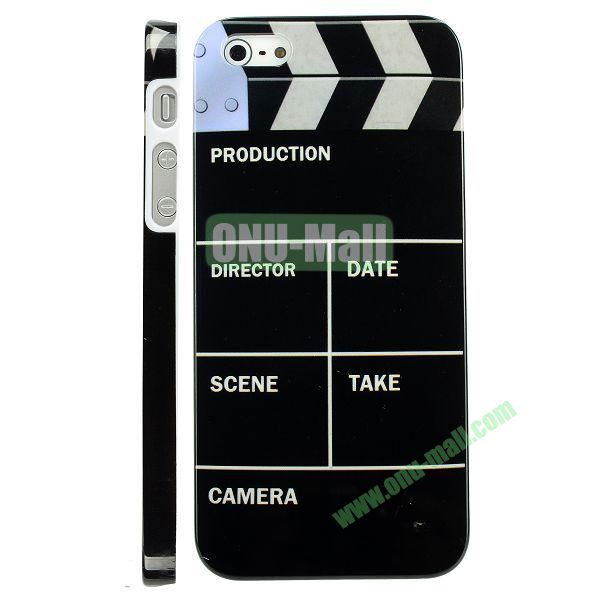 Special Design Hard PC Case For iPhone 5 5S (Black Clapboard Slate Movie Cut)