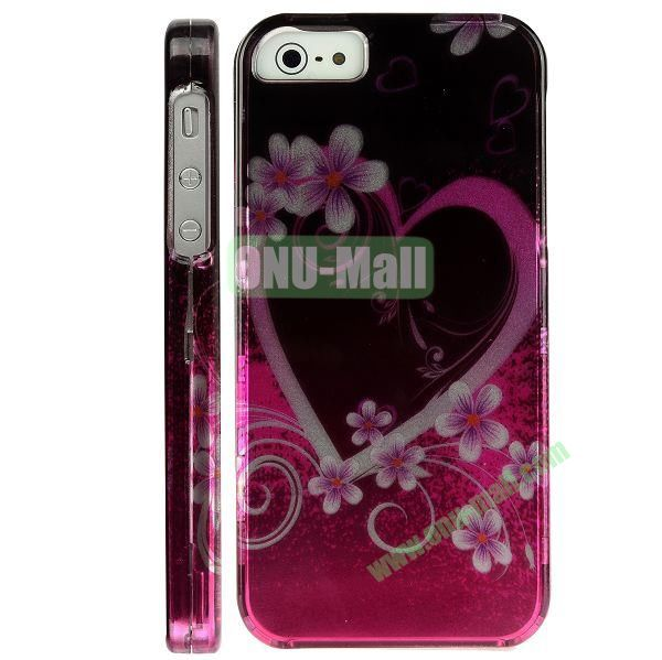 Special Design Front and Back Hard Case For iPhone 5 5S (Heart-shaped Pattern)