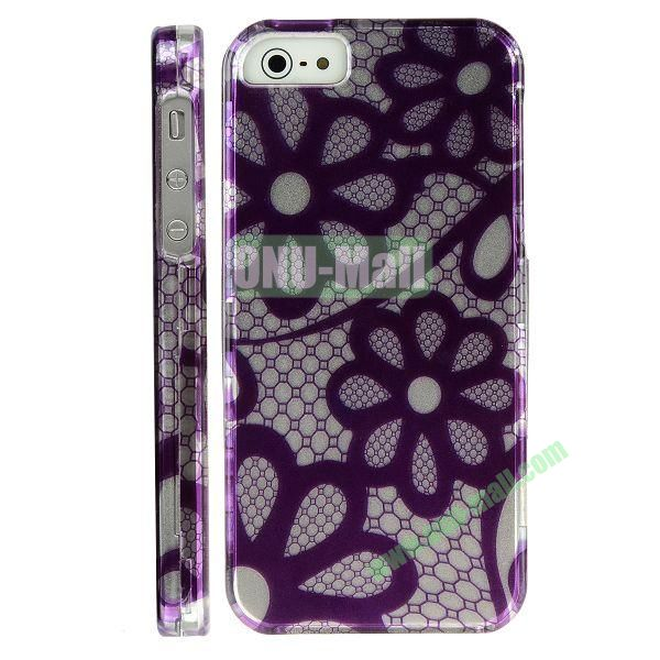 Special Design Front and Back Hard Case For iPhone 5 5S (Floral Design)