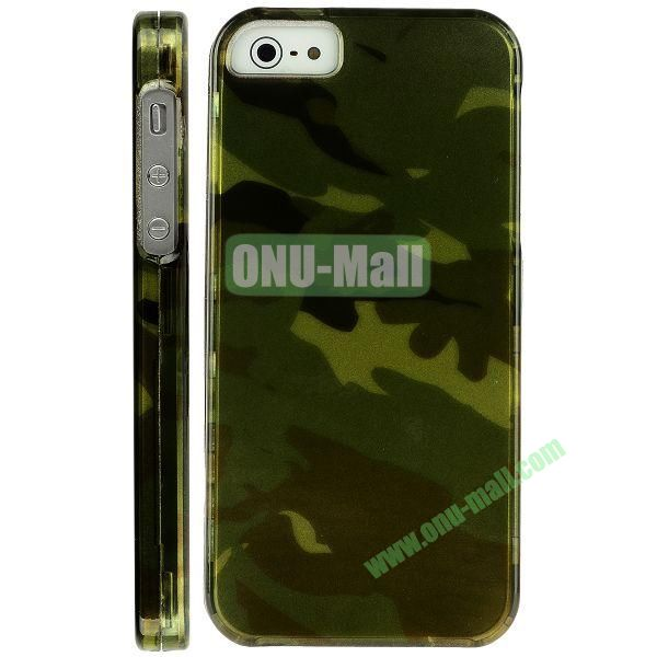 Special Design Front and Back Hard Case For iPhone 5 5S (Camouflage)