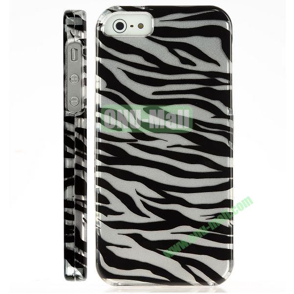 Special Design Front and Back Hard Case For iPhone 5 5S (Zebra Pattern)