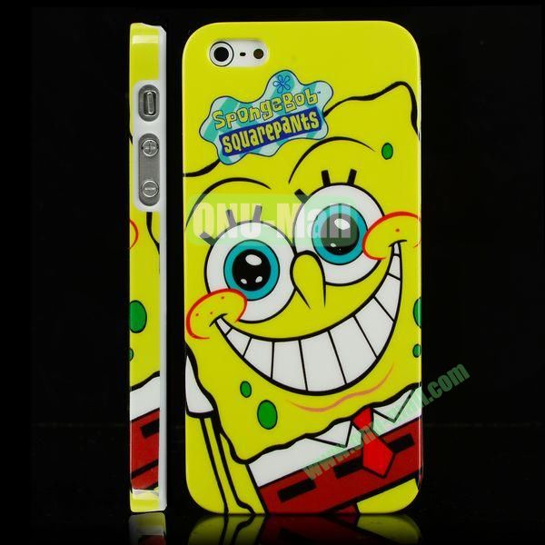 Unique 3D Printing Design Hard Plastic Case for iPhone 5 5S (SpongeBob)