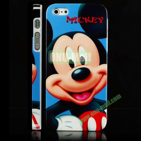 Unique 3D Printing Design Hard Plastic Case for iPhone 5 5S (Mickey Mouse)
