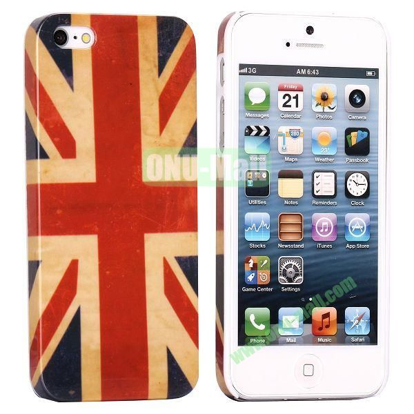 Unique Pattern PC Hard Case for iPhone 5 5S (UK Flag)