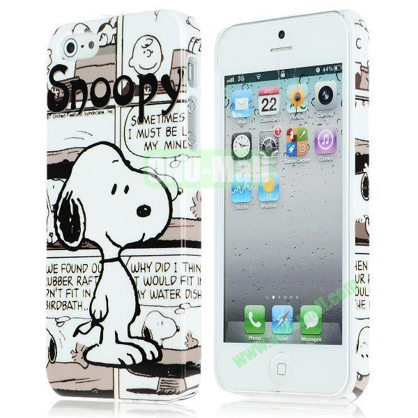 Unique Pattern PC Hard Case for iPhone 5 5S (Snoopy)