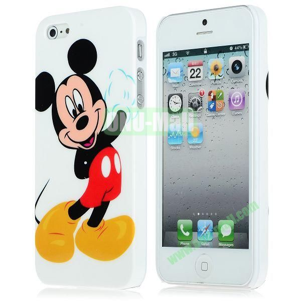Unique Pattern PC Hard Case for iPhone 5 5S (Boy Mickey)