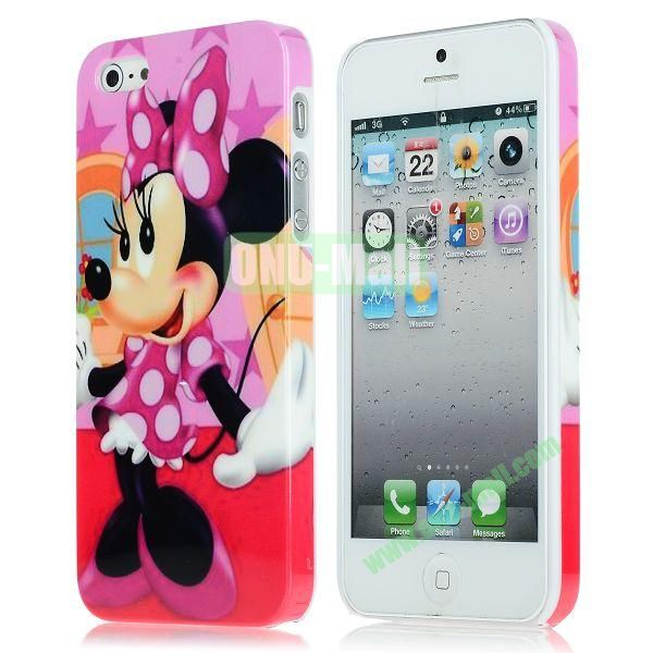 Unique Pattern PC Hard Case for iPhone 5 5S (Girl Mickey)