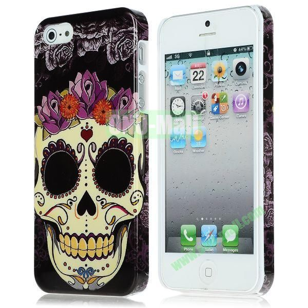 Unique Pattern PC Hard Case for iPhone 5 5S (Skull)
