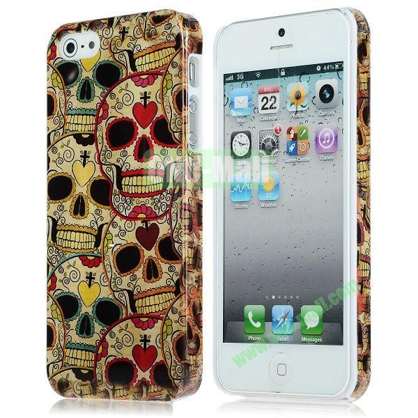 Unique Pattern PC Hard Case for iPhone 5 5S (Many Skulls)