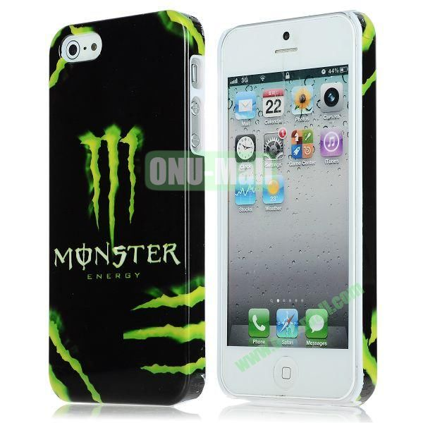 Unique Pattern PC Hard Case for iPhone 5 5S (Monster Energy Pattern)