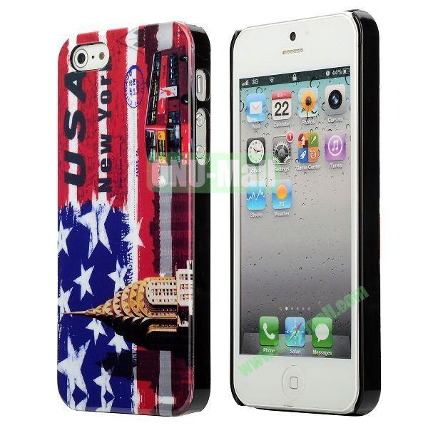 3D Printing Flag Design Back Cover Plastic Hard Case for iPhone 5 5S (Australia Flag)
