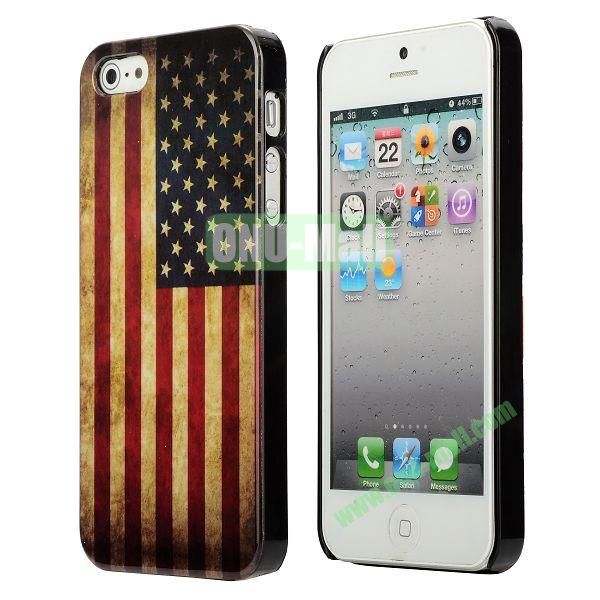 3D Printing Flag Design Back Cover Plastic Hard Case for iPhone 5 5S (USA Flag)