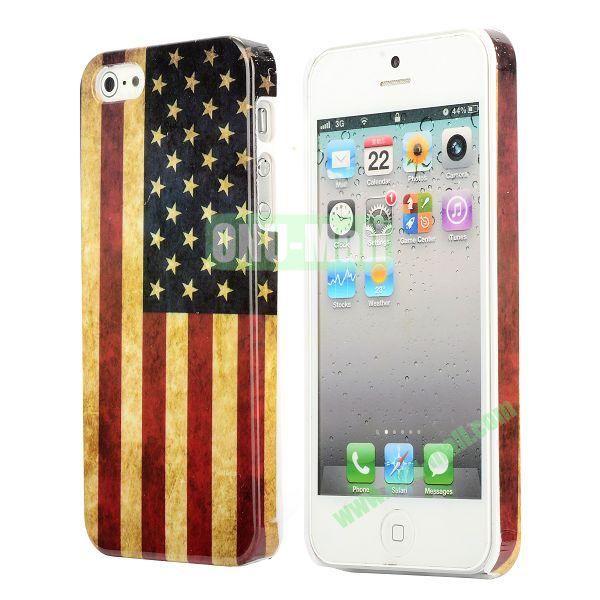 3D Printing Flag Design Back Cover Plastic Hard Case for iPhone 5 5S (United States Flag)