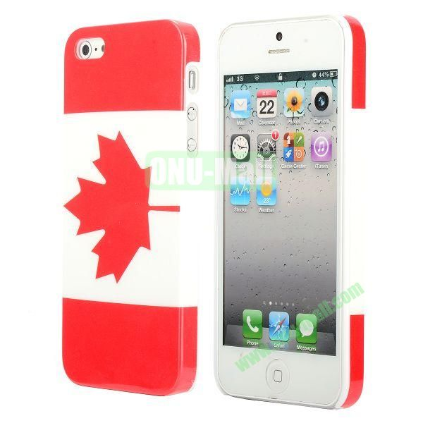 3D Printing Flag Design Back Cover Plastic Hard Case for iPhone 5 5S (Canada Flag)