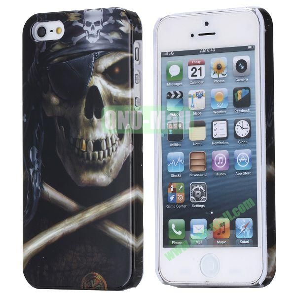 New Arrival Cool Design 3D Printing Hard Plastic Case for iPhone 5 5S (Skull Cross Bone)