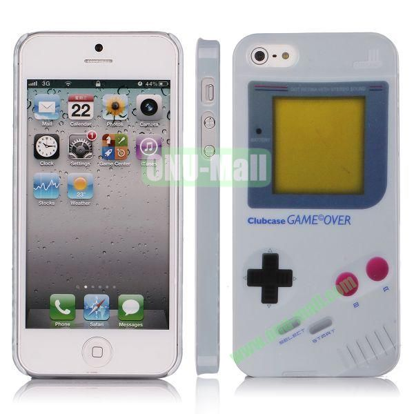 Game Machine Pattern Plastic Hard Case for iPhone 5 5S