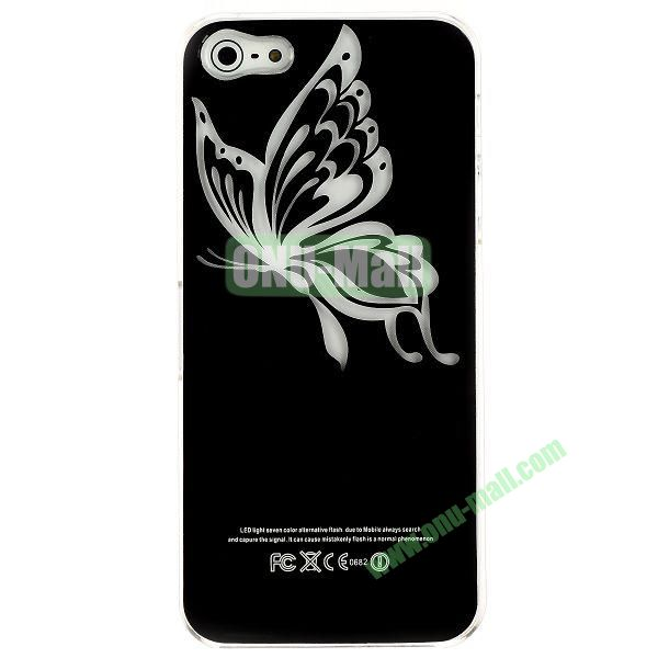 LED Flash Lighting PC Hard Case for iPhone 55S (Butterfly)