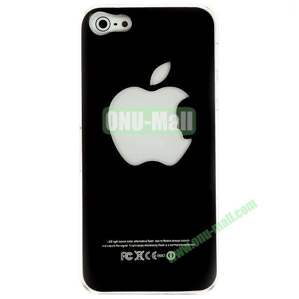 LED Flash Lighting PC Hard Case for iPhone 55S (Apple Logo)