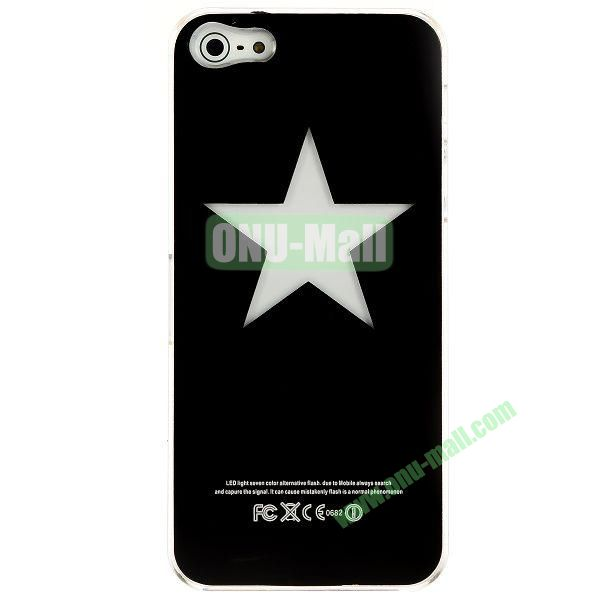 LED Flash Lighting PC Hard Case for iPhone 55S (Star)