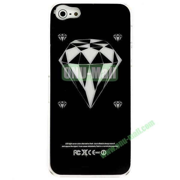 LED Flash Lighting PC Hard Case for iPhone 55S (Diamond Shape)