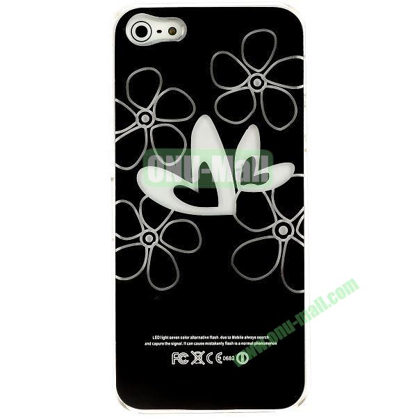 LED Flash Lighting PC Hard Case for iPhone 55S (Two Hearts)