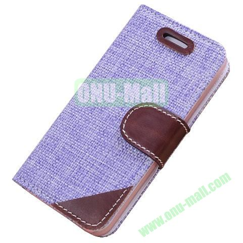 Cloth Wallet Case for iPhone 5S5 with Wallet and Holder  (Purple)