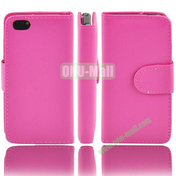 Wallet Style PU Material Leather Case with Card Slots for iPhone 5C (Rose)