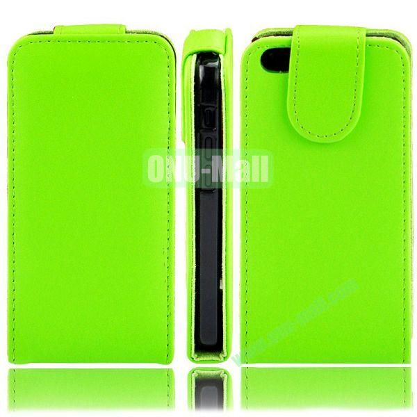 Wallet Style PU Material Vertical Flip Leather Case for iPhone 5C (Green)