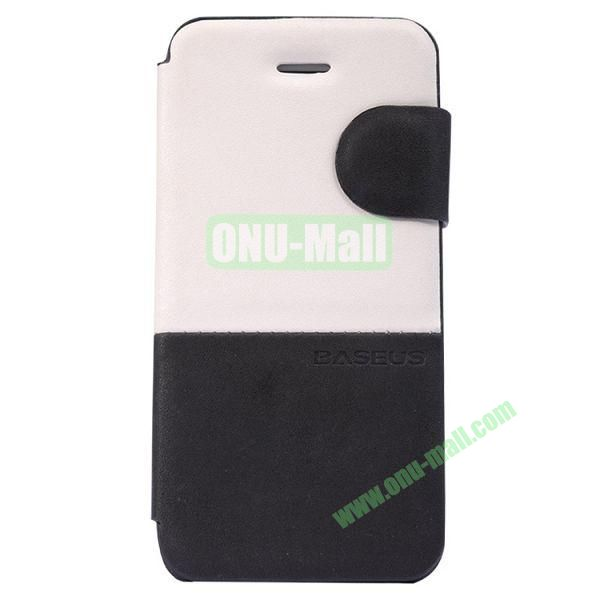 Baseus Double Color  Leather Case for iPhone 5C (White+Black)