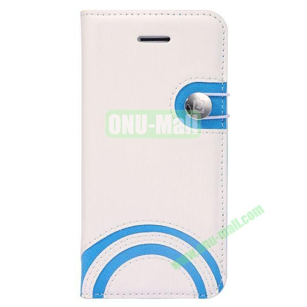 Baseus Rainbow PU Leather Case for iPhone 5C (White)