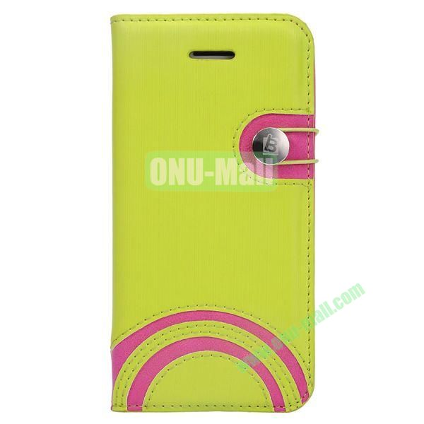 Baseus Rainbow PU Leather Case for iPhone 5C (Green)