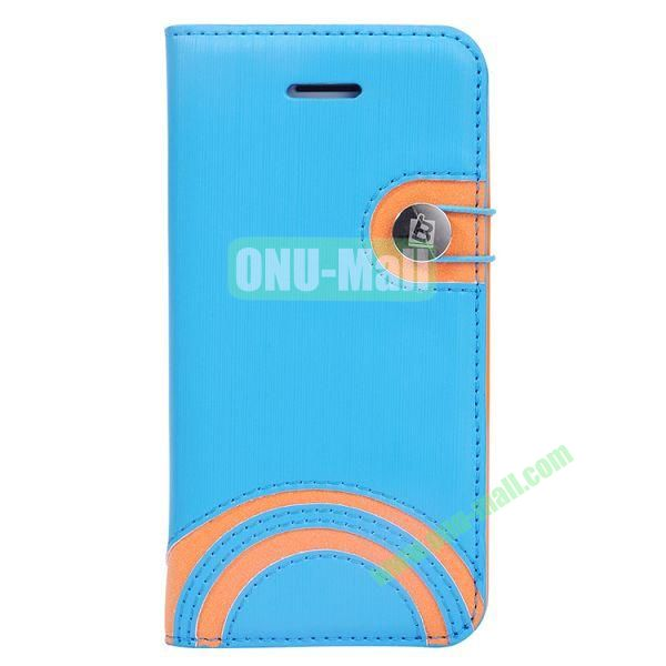 Baseus Rainbow PU Leather Case for iPhone 5C (Blue)