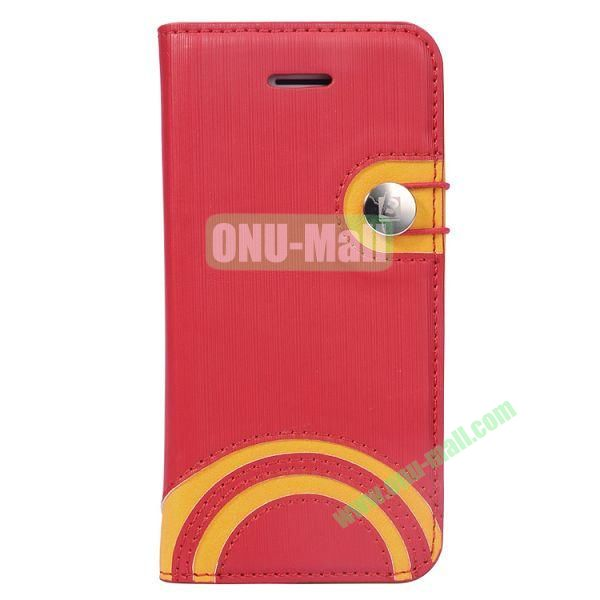 Baseus Rainbow PU Leather Case for iPhone 5C (Red)