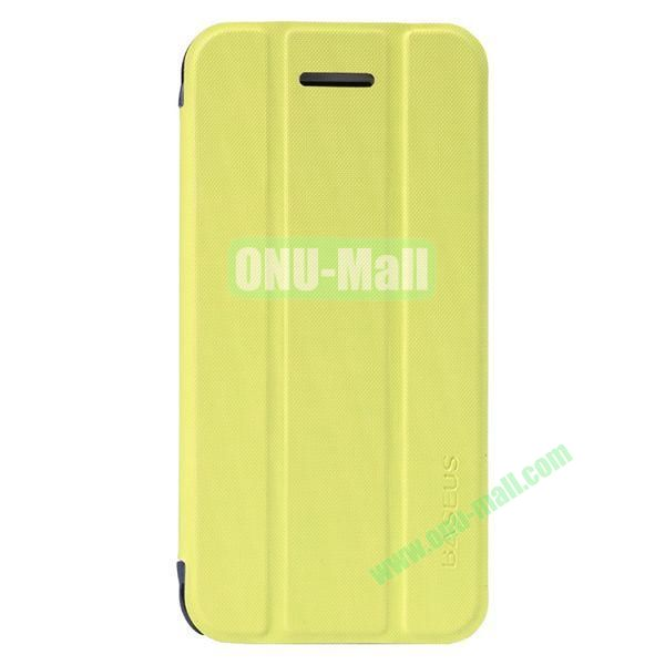 Baseus 3-folding Leather Stand Case for iPhone 5C (Yellow)