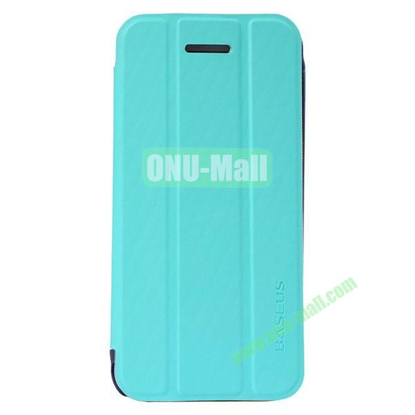 Baseus 3-folding Leather Stand Case for iPhone 5C (Blue)