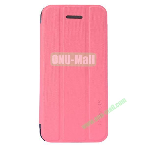 Baseus 3-folding Leather Stand Case for iPhone 5C (Pink)