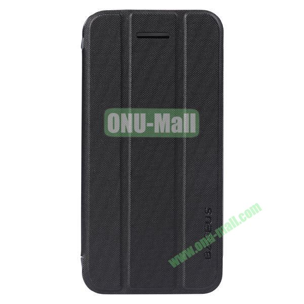 Baseus 3-folding Leather Stand Case for iPhone 5C (Black)