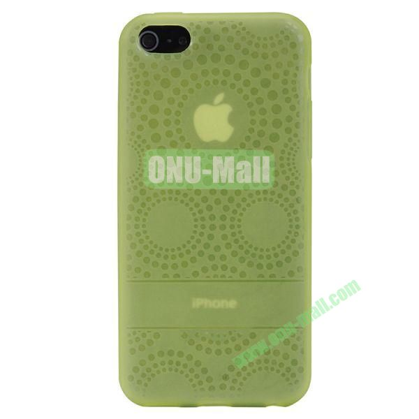 Baseus Sunflower TPU Case + Screen Protector For iPhone 5C (Green)