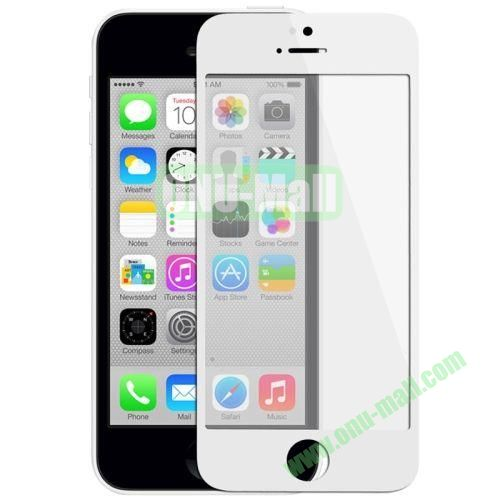 Front Screen Outer Glass Lens  LCD Mirror for iPhone 5C (White)