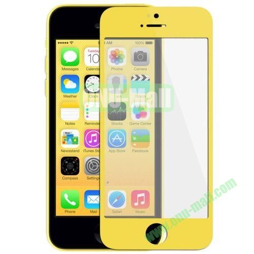 Front Screen Outer Glass Lens  LCD Mirror for iPhone 5C (Yellow)